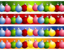 Free Colorful Christmas Ornament Borders Stock Image - 3766031