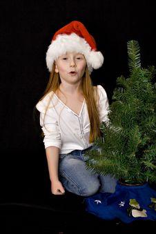 Small Girl Santa Stock Photos