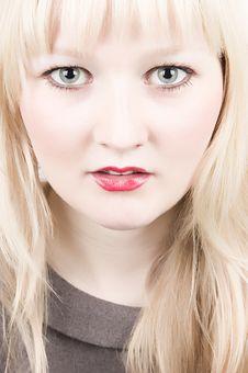 Beautiful Blond Closeup Portrait Stock Image