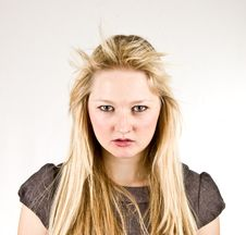 Free Stressed Blond Looking Forward Royalty Free Stock Photos - 3766778