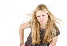 Free Pretty Blond Studio Portrait Stock Photo - 3766780