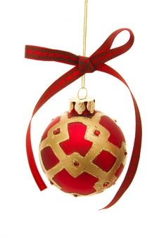 Free Red Glass Christmas Ornament Stock Photos - 3766883
