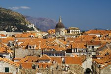 The Roofs In Dubrovnik Royalty Free Stock Image