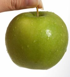 Free A Green Apple Stock Photo - 3768440