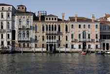 Free Venice, Italy - Water Front Facade Stock Image - 3768521