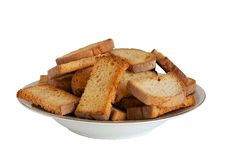 Free Freshly Made Croutons On A Plate Stock Photo - 37681750