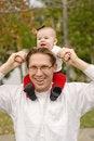 Free Baby Piggyback Royalty Free Stock Photo - 3774635