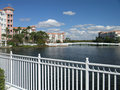 Free Vacation Resort Buildings Bridge & Lake 2 Stock Images - 3775184