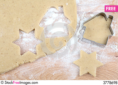 Free Baking Christmas Cookies Royalty Free Stock Photos - 3778698