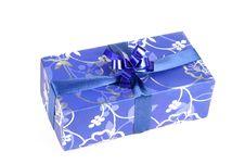 Free Blue Gift Box Stock Image - 3770161