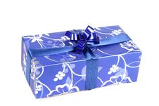 Free Blue Gift Box Royalty Free Stock Photography - 3770237