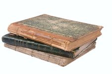 Free Pile From Three Ancient Books. Royalty Free Stock Photography - 3771697