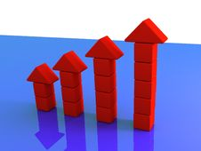Free Red Arrow Graph Stock Photo - 3771990
