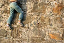 Free Woman Climbing Royalty Free Stock Photo - 3772025