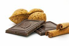 Free Almonds, Chocolate And Cinnamon Stock Image - 3772281