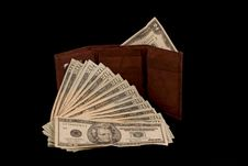 Free Wallet With Two Dollar Bill Stock Photos - 3774483