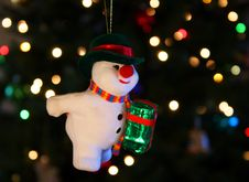 A Snowman Ornament Royalty Free Stock Photo