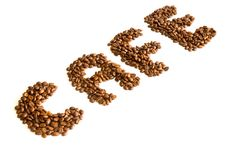 Free Beans Spelling Coffee Stock Photography - 3774742