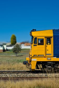 Free Freight Train Passing Through A Residential Area Stock Photos - 3775043
