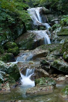 Free Waterfall In The Canyon Royalty Free Stock Photography - 3776127