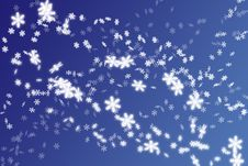 Free Snowflakes Background Royalty Free Stock Images - 3776229