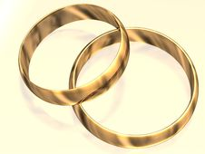 Free Beautiful Wedding Rings Royalty Free Stock Photo - 3776465