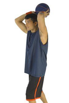 Free Man Throwing Basketball Stock Photography - 3776592