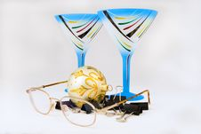 Free New Year Wineglasses & Glasses Royalty Free Stock Photos - 3776608