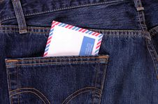 Free Air Mail Envelope. Stock Image - 3776671