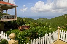Tropical Island View On Tortola BVI Royalty Free Stock Images