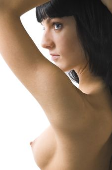 The Naked Brunette Close Up Royalty Free Stock Image