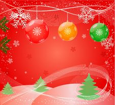 Christmas Abstract Vector Illustration Stock Photos