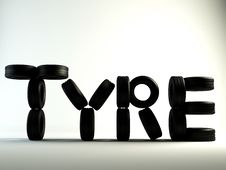 Tyre Word Stock Photography