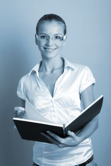 Free Business Woman With A Folder Stock Photography - 3778272