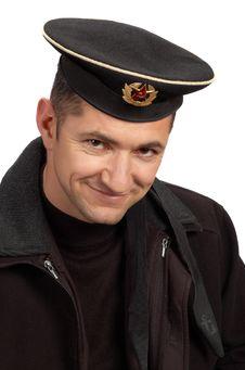 Free Military Sailor In Black Uniform Stock Photo - 3778320