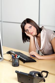 Free Businesswoman At Work Royalty Free Stock Photography - 3778347