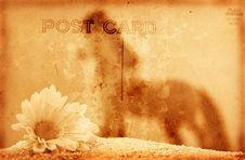 Free Vintage Postcard Background Royalty Free Stock Image - 3779096