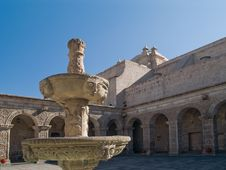 Free Courtyard At Arequipa, Peru Royalty Free Stock Photo - 3779465