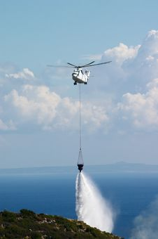 Fire Fighting Helicopter Royalty Free Stock Photography