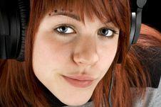 Free Seductive Girl Listening To Music Royalty Free Stock Photos - 3779528