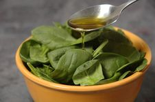 Free Salad With Oil Stock Image - 3780821