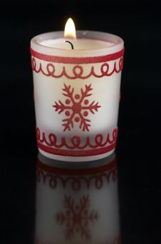 Free Christmas Candle Royalty Free Stock Images - 3781309
