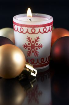 Free Christmas Candle Stock Photo - 3781310
