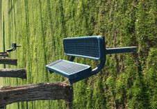 Free Empty Park Bench In Grass Royalty Free Stock Photos - 3781398