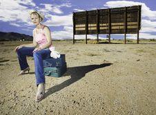 Woman Waiting Stock Photos