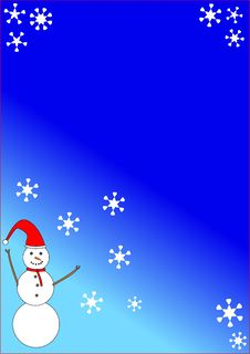Snowman Christmas Background Stock Images