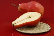 Fresh Red Pears Royalty Free Stock Photos