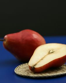 Organic Red Pears Stock Photo
