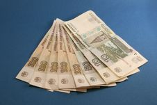 Fan Of Russian Cash Royalty Free Stock Photography