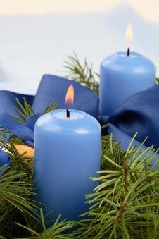 Free Christmas Candlestick Royalty Free Stock Image - 3782756
